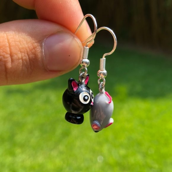 Cat and Mouse Earrings